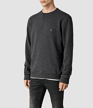 Mens Wilde Crew Sweatshirt (Charcoal Marl) - product_image_alt_text_2