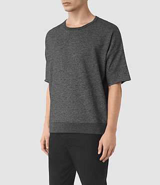 Mens Sonial Short Sleeve Crew T-Shirt (Black) - product_image_alt_text_2