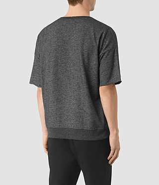 Mens Sonial Short Sleeve Crew T-Shirt (Black) - product_image_alt_text_3