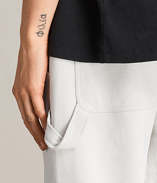 Men's Arvid Sweat Trousers (IVORY GREY) - Image 3