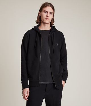 Hommes Sweat à capuche Raven (Black) -