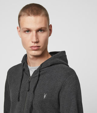 Hommes Raven Hoody (Charcoal Marl) - product_image_alt_text_2