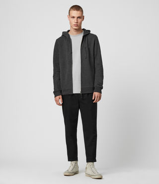 Hommes Raven Hoody (Charcoal Marl) - product_image_alt_text_3