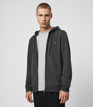 Hombres Sudadera con capucha Raven (Charcoal Marl) - product_image_alt_text_4