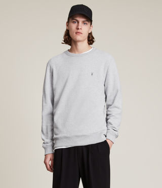 Mens Raven Crew Sweatshirt (Grey Marl) - product_image_alt_text_1