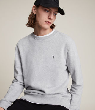 Men's Raven Crew Sweatshirt (Grey Marl) - product_image_alt_text_2