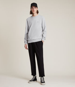 Mens Raven Crew Sweatshirt (Grey Marl) - product_image_alt_text_3