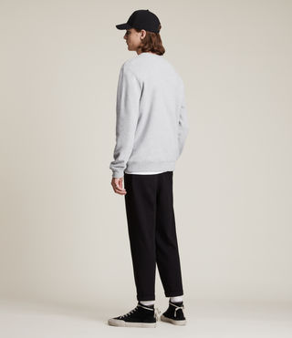 Mens Raven Crew Sweatshirt (Grey Marl) - product_image_alt_text_4