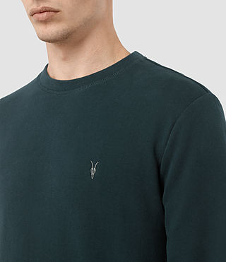 Hombres Sudadera Raven (Petrol Blue) - product_image_alt_text_2