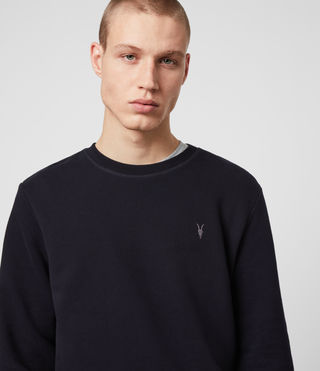 Hommes Raven Crew Sweatshirt (INK NAVY) - product_image_alt_text_2