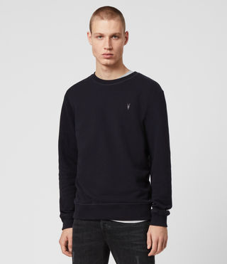 Hommes Raven Crew Sweatshirt (INK NAVY) - product_image_alt_text_4