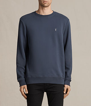 Mens Raven Crew Sweatshirt (WASHED NAVY) - Image 1