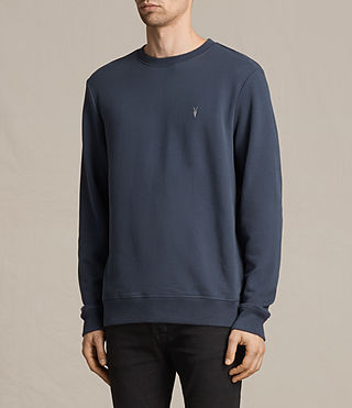 Mens Raven Crew Sweatshirt (WASHED NAVY) - Image 3