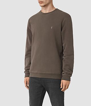 Hombres Raven Crew Sweatshirt (Khaki Brown) - product_image_alt_text_2