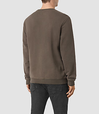 Hombres Raven Crew Sweatshirt (Khaki Brown) - product_image_alt_text_3