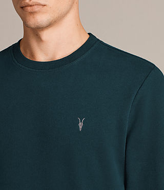 Mens Raven Crew Sweatshirt (OIL BLUE) - Image 2