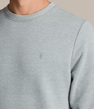 Hombres Raven Crew Sweatshirt (CHROME BLUE MARL) - product_image_alt_text_2
