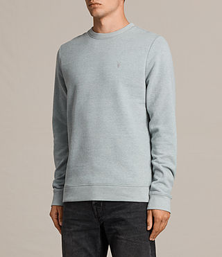 Hombres Raven Crew Sweatshirt (CHROME BLUE MARL) - product_image_alt_text_3