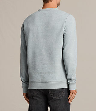 Hombres Raven Crew Sweatshirt (CHROME BLUE MARL) - product_image_alt_text_4