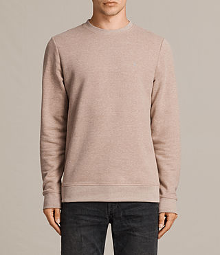 Mens Raven Crew Sweatshirt (MUSHROOM PINK MARL) - product_image_alt_text_1