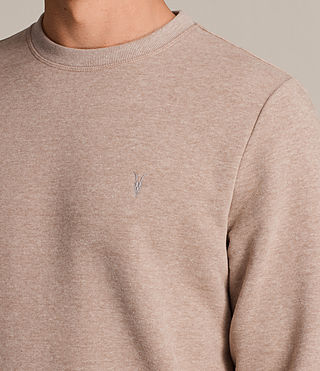 Mens Raven Crew Sweatshirt (MUSHROOM PINK MARL) - product_image_alt_text_2