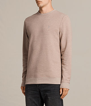 Mens Raven Crew Sweatshirt (MUSHROOM PINK MARL) - product_image_alt_text_3
