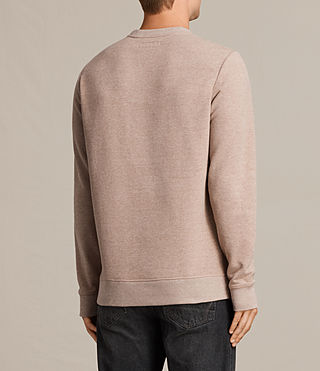 Mens Raven Crew Sweatshirt (MUSHROOM PINK MARL) - product_image_alt_text_4