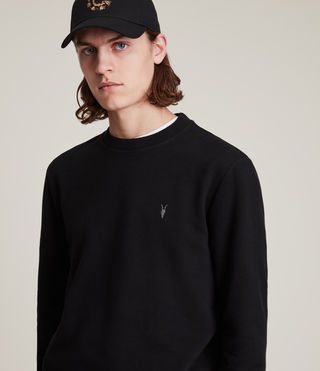 Men's Raven Crew Sweatshirt (Black) - product_image_alt_text_2