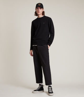 Men's Raven Crew Sweatshirt (Black) - product_image_alt_text_3