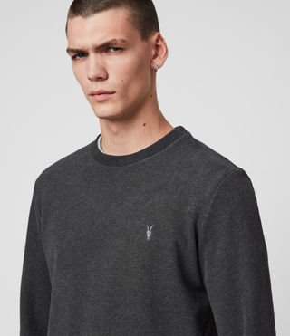 Hommes Raven Crew (Charcoal Marl) - product_image_alt_text_2