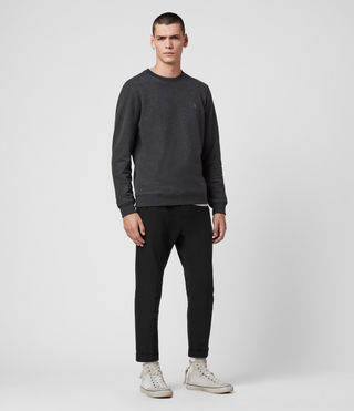 Hommes Raven Crew (Charcoal Marl) - product_image_alt_text_3