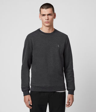 Hommes Raven Crew (Charcoal Marl) - product_image_alt_text_4