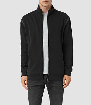 Hommes Vander Funnel Neck Sweatshirt (Black/Black) -