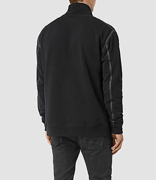 Hombre Vander Funnel Neck Sweatshirt (Black/Black) - product_image_alt_text_3