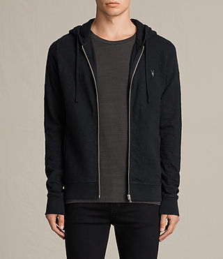 Mens Lino Hoody (Jet Black) - product_image_alt_text_1