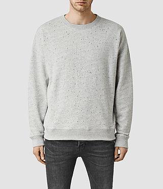Mens Folk Crew Sweatshirt (Grey Marl)