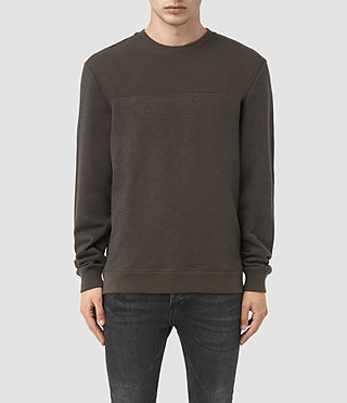 Mens Mishap Crew Sweatshirt (Khaki Brown) - product_image_alt_text_1