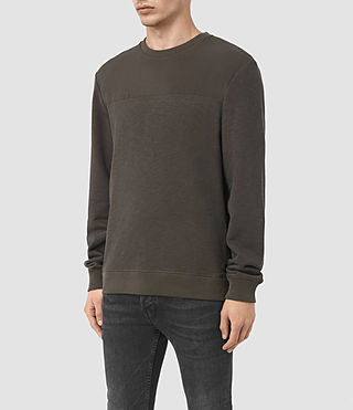 Men's Mishap Crew Sweatshirt (Khaki Brown) - product_image_alt_text_2