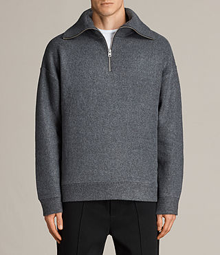 Men's Cortel Funnel Neck Jumper (Charcoal/Cinder) - Image 1