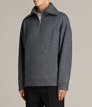 Men's Cortel Funnel Neck Jumper (Charcoal/Cinder) - Image 3