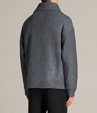 Men's Cortel Funnel Neck Jumper (Charcoal/Cinder) - Image 5