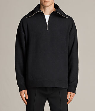 Mens Cortel Funnel Neck Sweater (Black) - Image 1