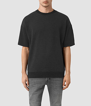 Hombre Elders Short Sleeve Crew Sweatshirt (Cinder Marl) - product_image_alt_text_1
