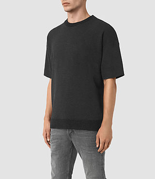 Hombres Elders Short Sleeve Crew Sweatshirt (Cinder Marl) - product_image_alt_text_2