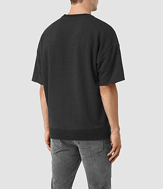 Hombres Elders Short Sleeve Crew Sweatshirt (Cinder Marl) - product_image_alt_text_3