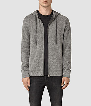 Mens Ryshe Zip Hoody (Cinder Marl) - product_image_alt_text_1