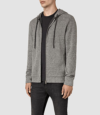 Mens Ryshe Zip Hoody (Cinder Marl) - product_image_alt_text_3