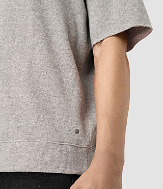 Mens Ryshe Short Sleeve Crew Sweatshirt (Taupe Marl) - product_image_alt_text_2