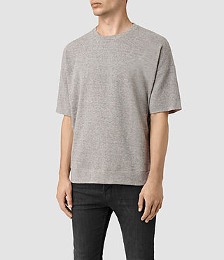 Mens Ryshe Short Sleeve Crew Sweatshirt (Taupe Marl) - product_image_alt_text_3