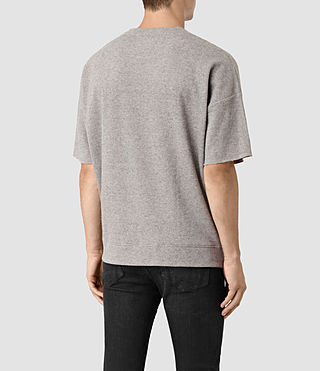 Mens Ryshe Short Sleeve Crew Sweatshirt (Taupe Marl) - product_image_alt_text_4